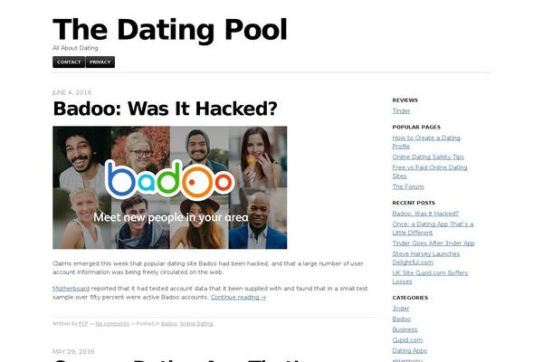 Dating site made with wordpress